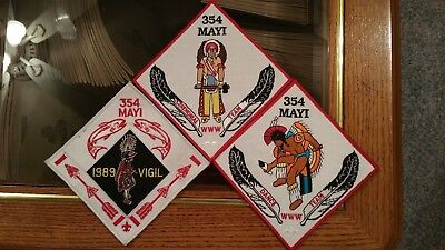 Oa Mayi 354  3 New Patches/flaps: Dance Team, Ceremonial Team, & 1989 Vigil