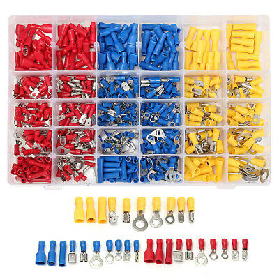 Excellway EC09 480Pcs Insulated Electrical Wire Terminals Crimp Connector