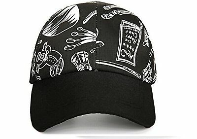 NEW CHEF WORKS COOL VENT COLLECTION BLACK BASEBALL CAP HAT Black-White New