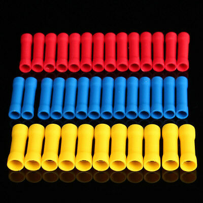 120Pcs PVC Insulated Butt Wire Connector Crimp Terminal 0.5-6.0mm Kit