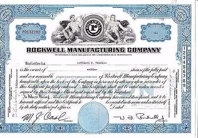 Rockwell Manufacturing Company - Einzelaktie 1 shares - 05.01.1960
