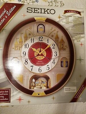 NEW Seiko Melodies in Motion Clock 2016 Musical Christmas Wall Clock Collector