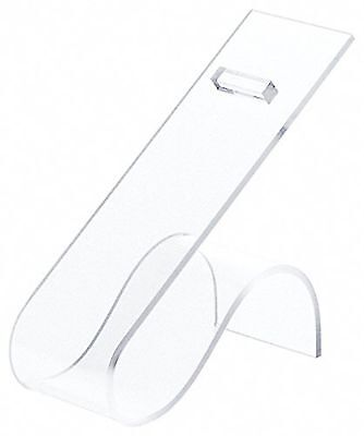"""Plymor Brand Clear Acrylic Shoe Display Rest, 2"""" W x 4.5"""" D x 4.75"""" H New"""