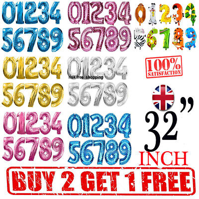 """32"""" LETTER Foil Number Balloons Air Baloons Large Happy Birthday , Party Ballons"""