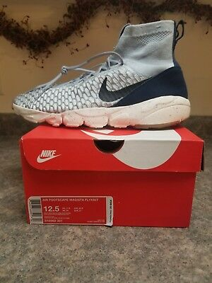 345062d7ae2e12 Nike Air Footscape Magista Flyknit size 12.5. Wolf Grey Navy Gum. 816560-001