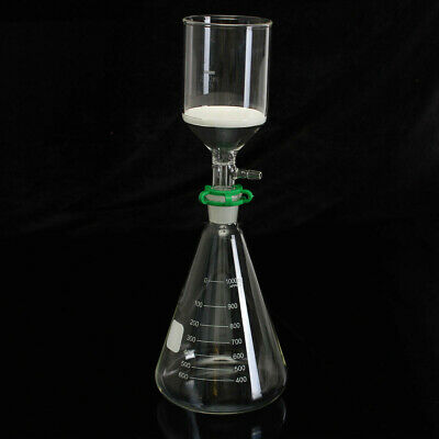 Glass Vaccum Suction Filter Filtration Kit  250ml Buchner Funnel 1000mL Conical