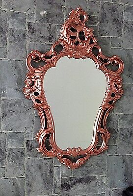 Wall Mirror Copper Mirror 50X76 Antique Baroque Wall Deco Rococo Repro New Wow