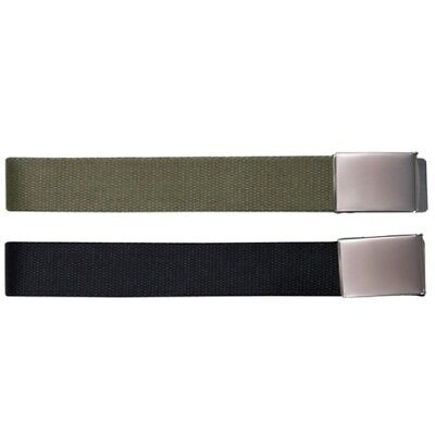 Military Style Tactical Clasp Belt Extremely Tough Green Black Mens Army Police