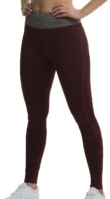TCA Natural Performance Womens Long Running Tights-Red