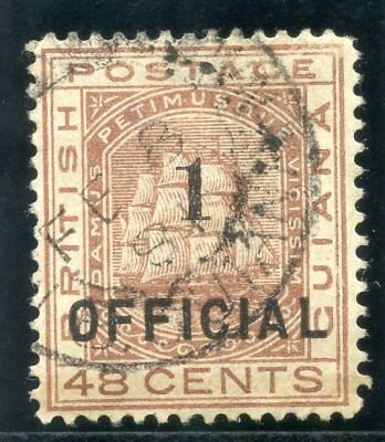British Guiana 1881 QV 1 on 48c red-brown very fine used. SG 154. Sc 97.