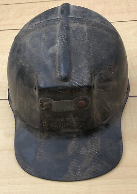 Vintage MSA COMFO CAP Coal Mining Hard Hat miner helmet tiger stripe low vein