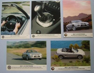 MGF 1.8i Steptronic  x 5 original colour Press Photos exterior & interior views