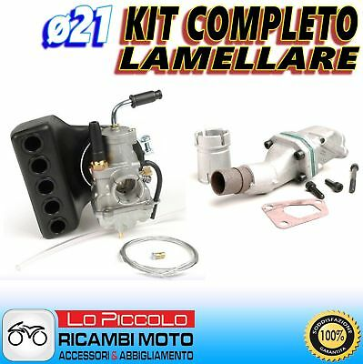 KIT CARBURATORE POLINI CP ø21 + COLLETTORE LAMELLARE 3FORI VESPA PK XL 50 125