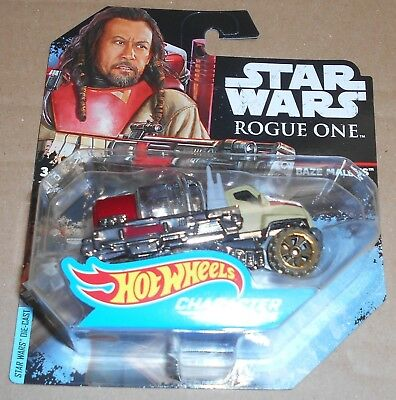 DIECAST HOT Wheels Character Cars STAR WARS Rogue One Mattel Baze Malbus
