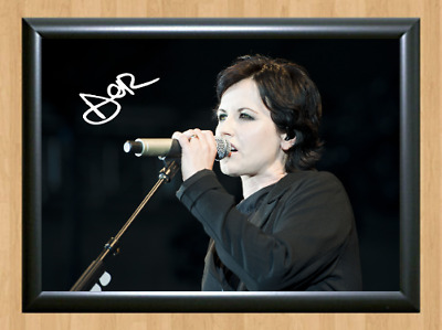Dolores O'Riordan Irish Singer Signed Autographed A4 Photo Poster Memorabilia cd