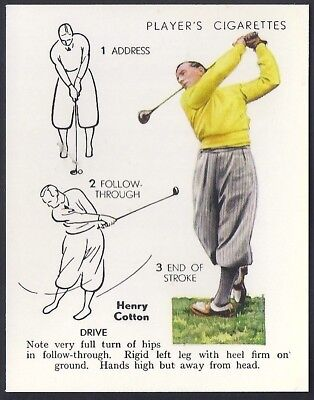 Players Overseas Issue-Golf (L25)-#09- Drive Henry - Cotton