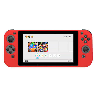AMZER Silicone Skin Jelly Case - Red For Nintendo Switch Console