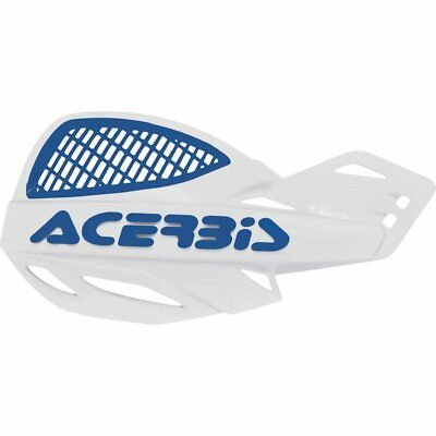 Acerbis Uniko Vented Handguards White Blue Motocross Enduro MX Quad ATV