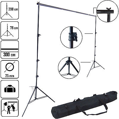 DynaSun K903 290x300 Background Backdrop Support Studio System with Crossbar Bag