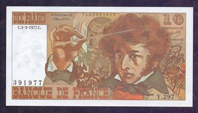 10 Francs Berlioz From France 3.3.1977 Unc