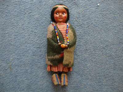 Vintage Native American Girl Cloth Doll