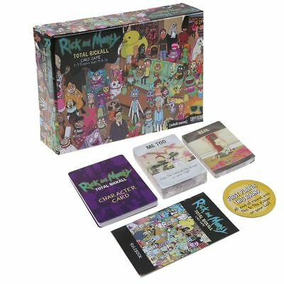 Rick and Morty Total Rickall Cooperative Deck Building Card Game Entertainment