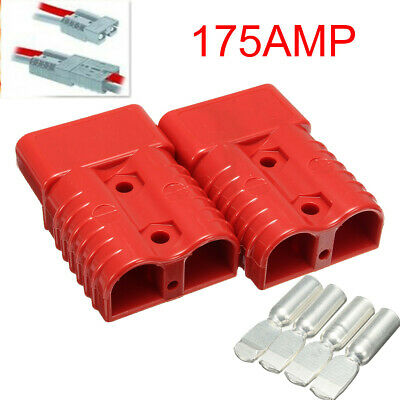 175 AMP Battery Connector Jump Start Slave Assist Pair RED