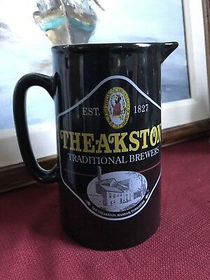 Rare This Side Atlantic Vintage Theakston Ale Pub Pitcher Hand Made England