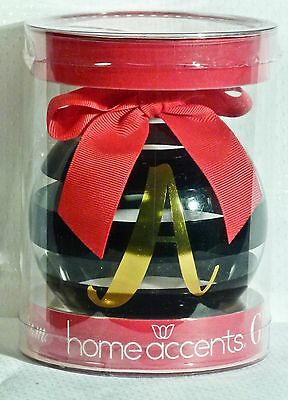 "Brand New in Box Belk's Merry Monogram Christmas Ornament Initial ""A"" Glass NICE"