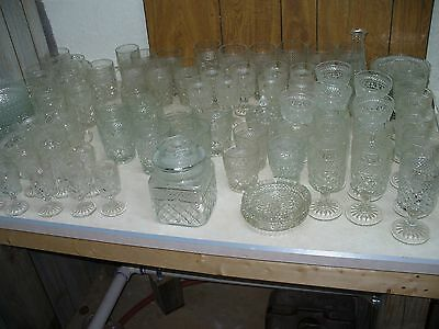 Set of 105 Pieces of Wexford Glass Goblets Sherbets Ashtray Bowls Mugs Plates