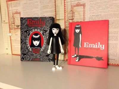 Emily the Strange lot:  figure, novel and picture book