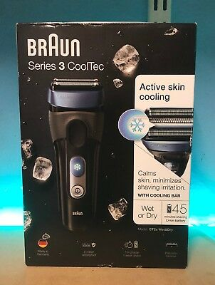BRAUN CT2S series 3 cooltec wet or dry shaver active skin cooling waterproof NEW