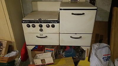 Vintage Antique Gas Oven/stove Early 1900's Porcelain Quality Brand
