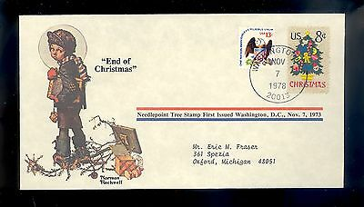 Norman Rockwell Commemorative Cover END OF CHRISTMAS 1978