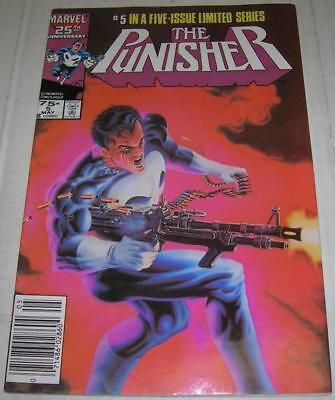 PUNISHER #5 (Marvel Comics 1986) JIGSAW appearance (FN/VF) LAST ISSUE