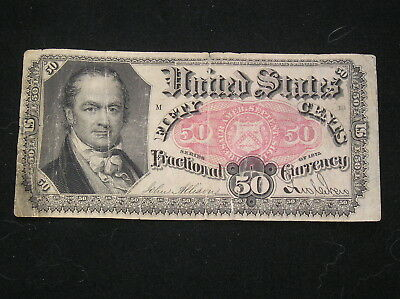 1864 Fifth Issue Fractional Currency 50 Cents  FR 1381 G+