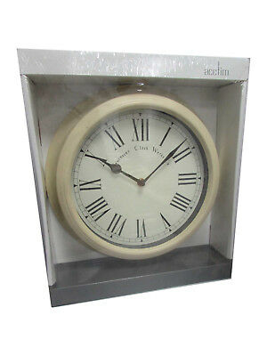 Acctim Vintage Style Wall Clock In Cream  26702