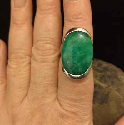 Powerful Queen Green Dragon Spirit  Ring Vintage Estate Item Witch Owned