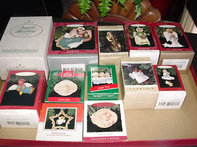 Lot of 12 - ANGEL THEMES - Hallmark Christmas ornaments - for your angel tree