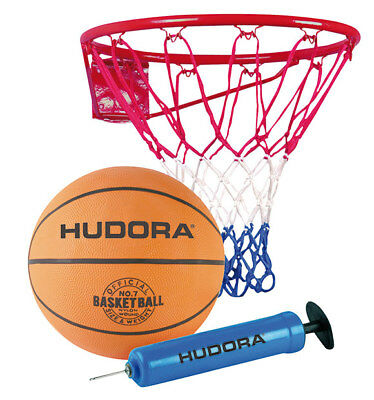 Hudora Basketballkorb - Set Slam it incl. Ball und Pumpe 71710 Basketballring
