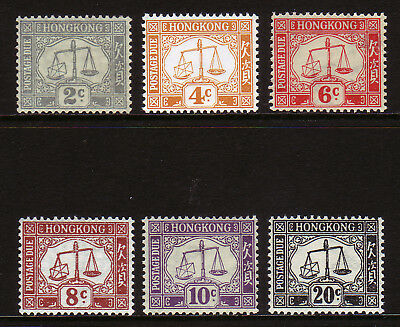 HONG KONG. SG D6-D11, 2c to 20c POSTAGE DUES. MOUNTED MINT.
