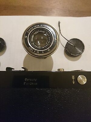 """Zeiss Ikon Contax II Rangefinder black """" For China"""" Super Rare and Collectible"""