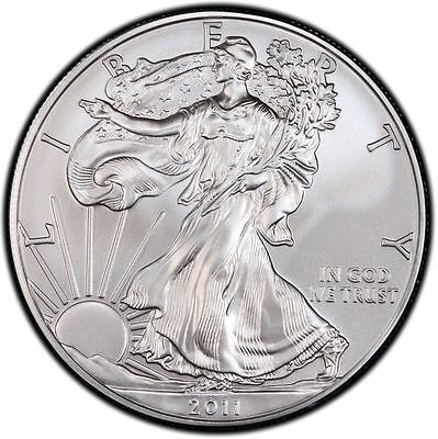 2011 US Mint $1 American Silver Eagle 1 oz Silver Coin Direct From Mint Tube
