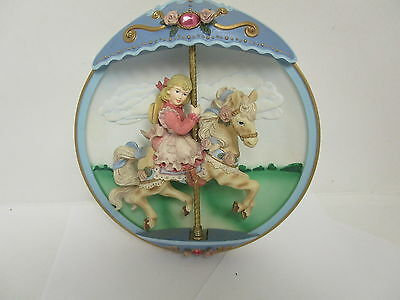 Vintage Classical The Bradford Exchange Musical Carousel Horse Collectors Item