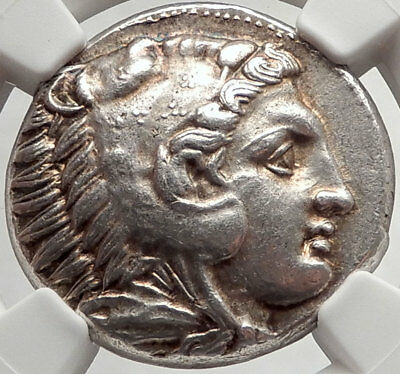 ALEXANDER III the GREAT 336BC Tetradrachm Silver Ancient Greek Coin NGC  i66472