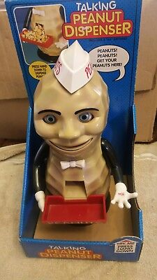 Rare Awesome Talking /action Peanut Man Dispenser New In Box