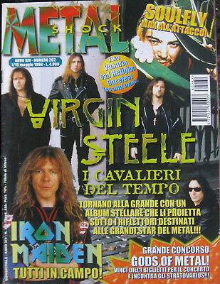 METAL SHOCK 262 1998 Virgin Steele Iron Maiden Soulfly Two Bad Religion Yes