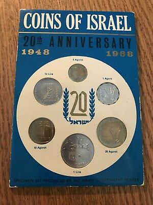 Coins Of Israel 20th Anniversary 1948 to 1968 Sealed Specimen Set