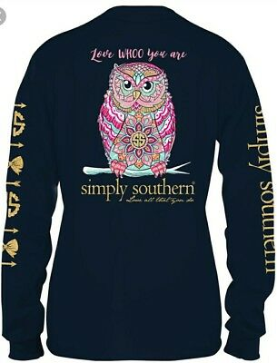 Simply Southern (YOUTH GIRLS MEDIUM ) Love Whoo You Are - OWL - Tee shirt  NWT