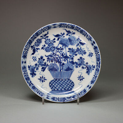 Small Antique Chinese Porcelain blue and white dish, Kangxi (1662-1722)